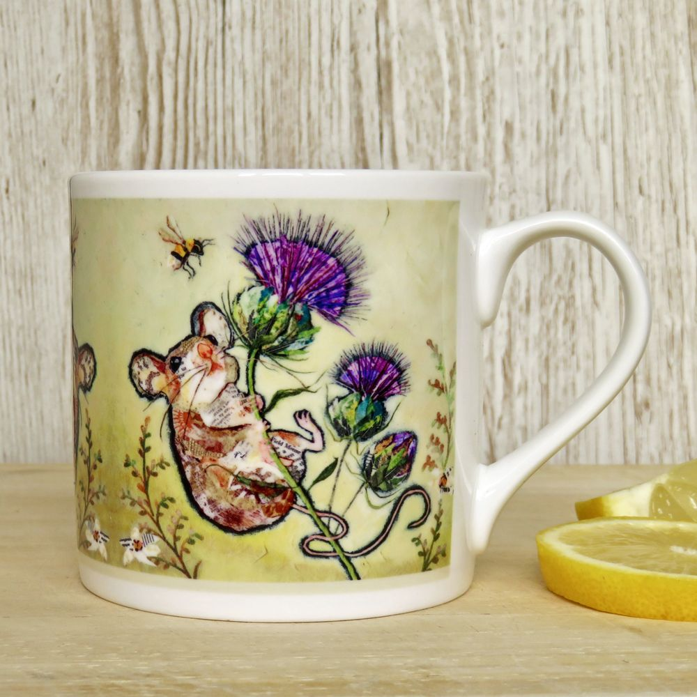 Mouse, Thistle and Bee Mug