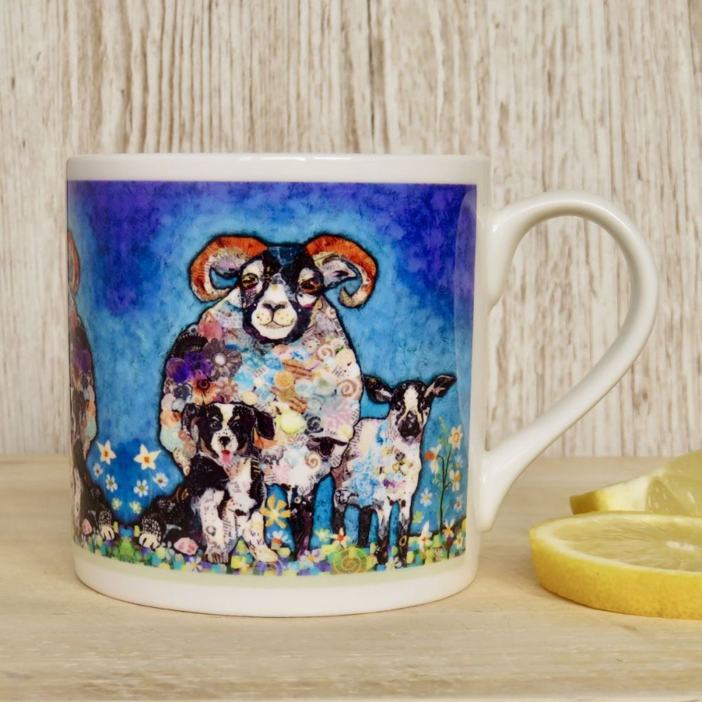 Sheep, Lamb and Dog Mug