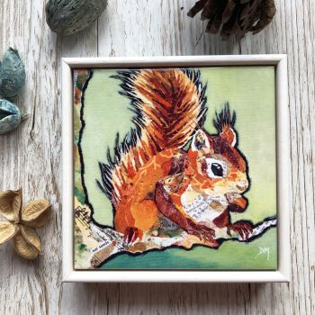 Hands off my Nut - Mini Framed Ceramic Tile