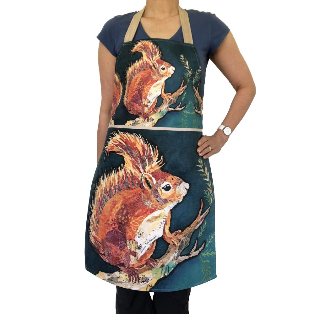 Wee Red Squirrel - Plush Apron