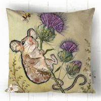 First to the Top - Green, Purple and Brown Mouse Sofa Cushion