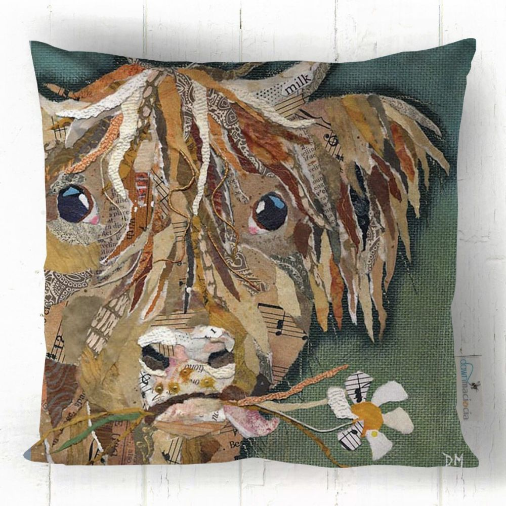 Hamish Highland Cow Art Cushion