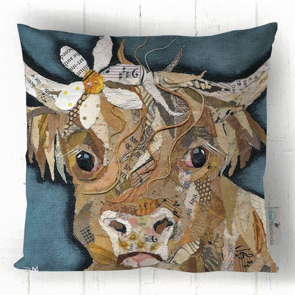 Florrie Highland Cow - Art Cushion