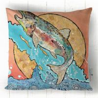 Salmon Leap - Cushion
