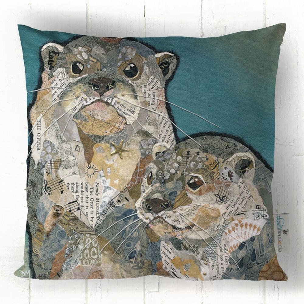 Two Otters Printed Cushion