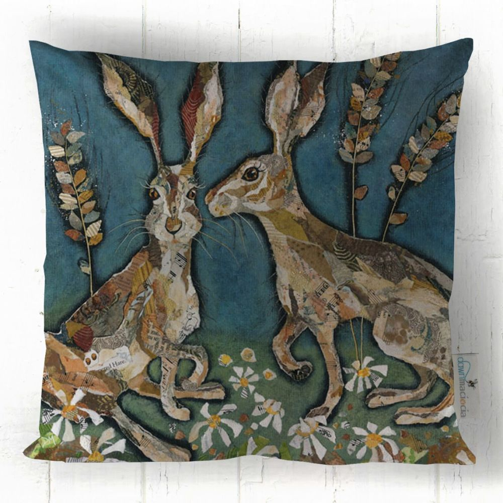 Hares with Long Ears Art Cushion