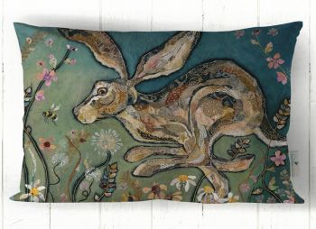 Follow the Leader - Running Hare Cushion