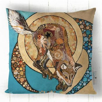 Fox & Golden Moon - Printed Cushion