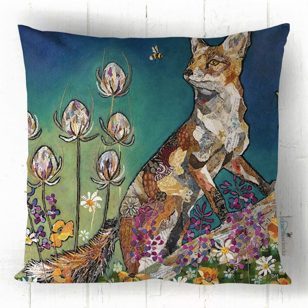 Fox and Bumble Bee -Art  Cushion