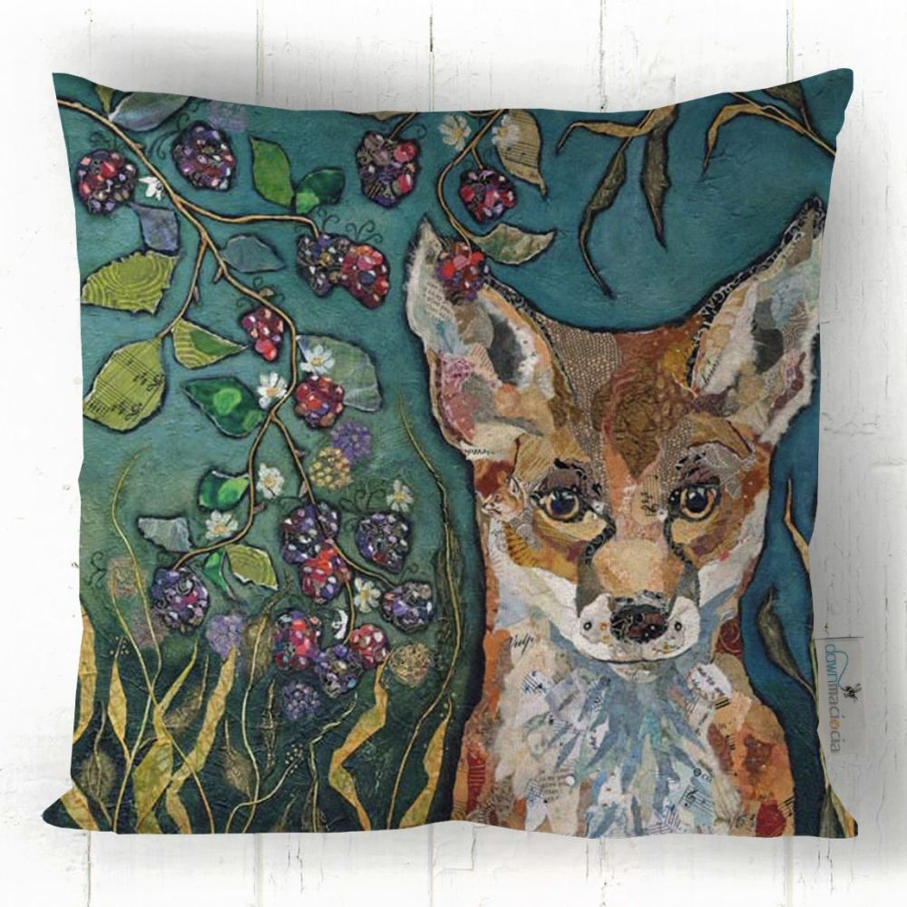 Fox in Brambles Art Cushion