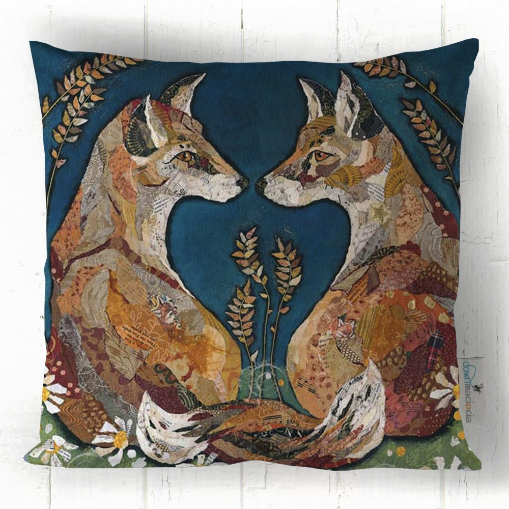 Two Foxes Love Cushion