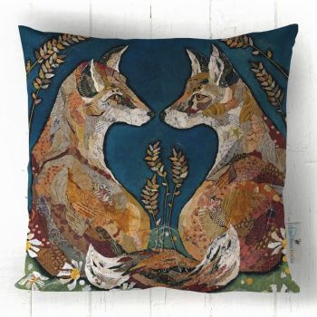 Foxheart - Collage Art Cushion