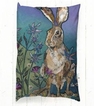 Sitting Pretty - Rectangular Hare Cushion