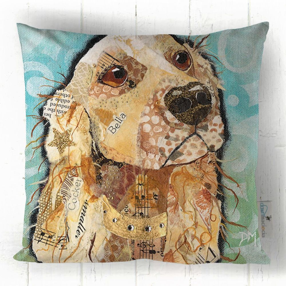 Cocker Spaniel Dog Art Cushion