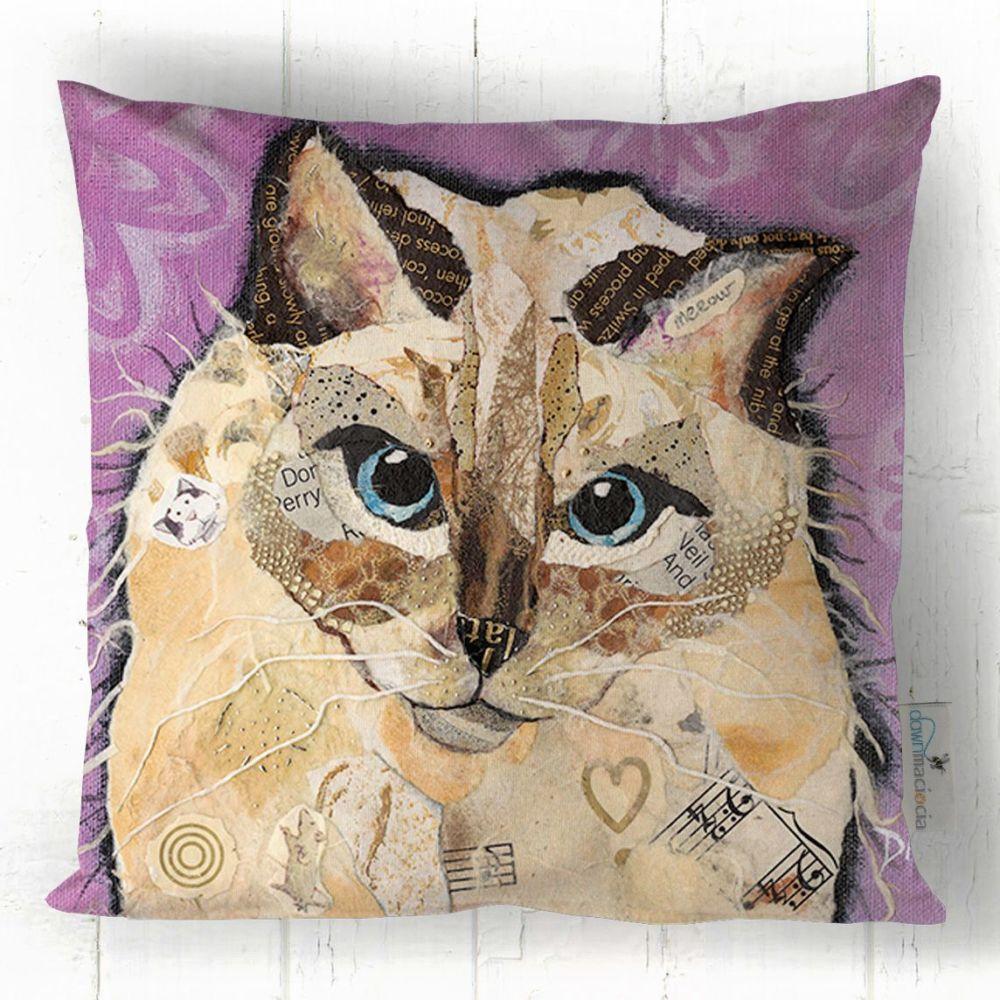 Ragdoll Cat Art Cushion