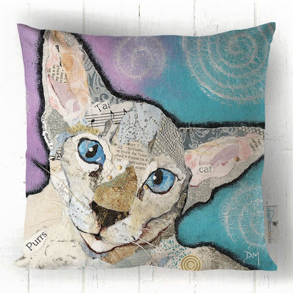 Seal Tabby Point Cat Cushion