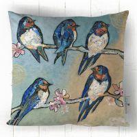 Swallows & Swirls - Cushion