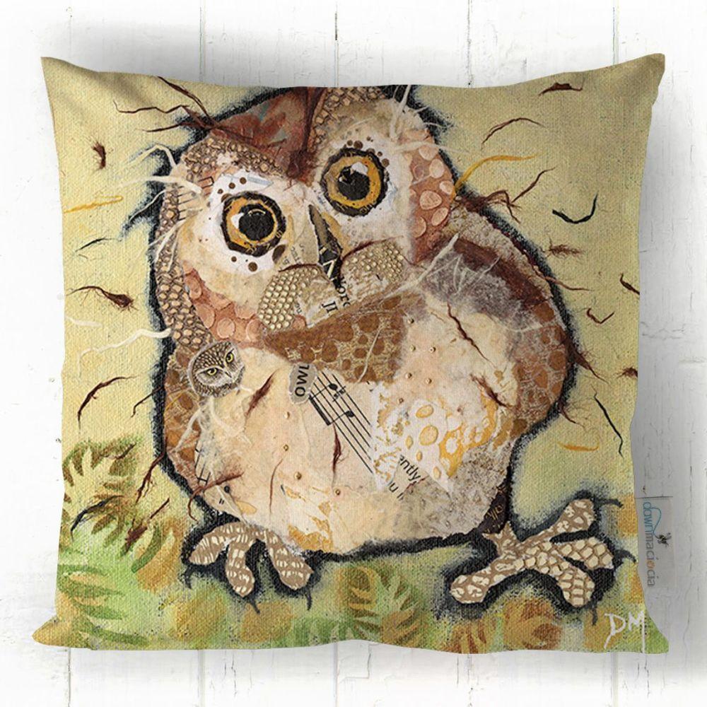 Baby Owl Art Cushion