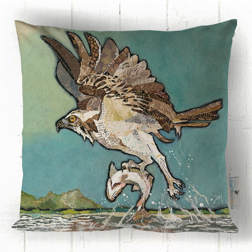 Flying Osprey Square Cushion