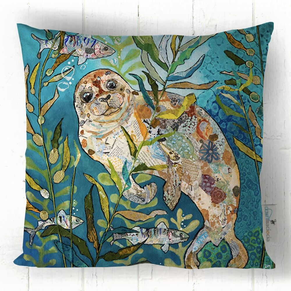Seal Underwater Printed Cushion