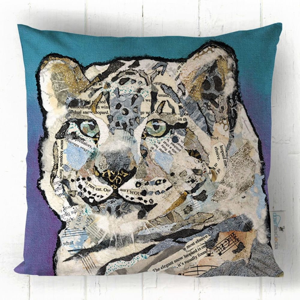 Snow Leopard Printed Art Cushion