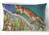 Aesop's Garden - Fox & Hare Cushion