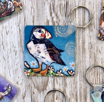 May Puffin Square Keyring