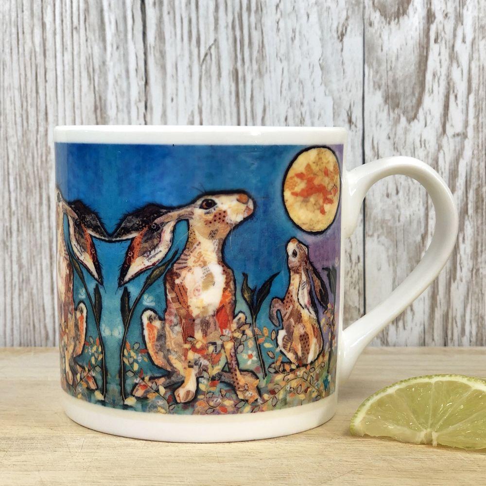 Moongazing Hares Mug - Fine Bone China