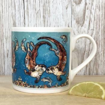 W'otter L'otter Bubbles Mug