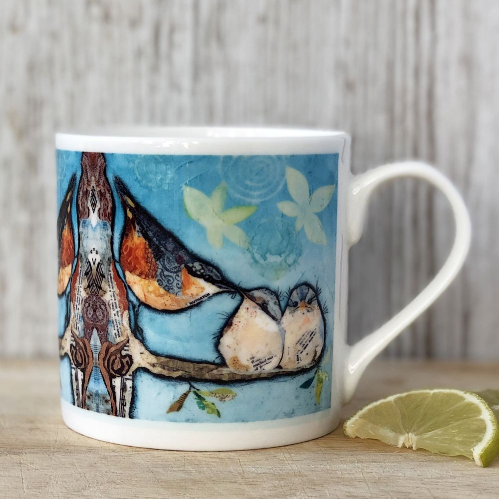 Nuthatch Bird Mug Fine Bone China