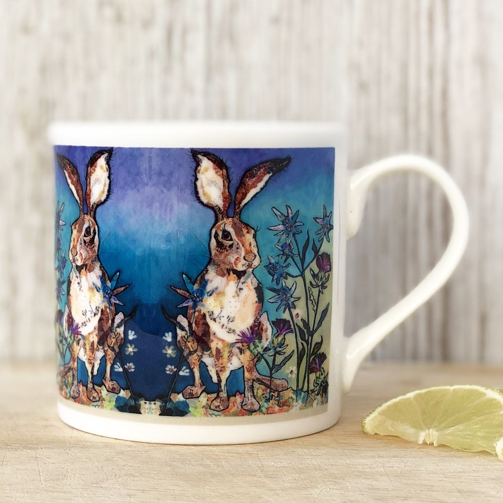 Sitting Hare Mug - Fine Bone China