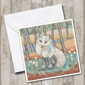 Arctic Fox Card