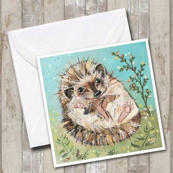 Fern - Hedgehog Card
