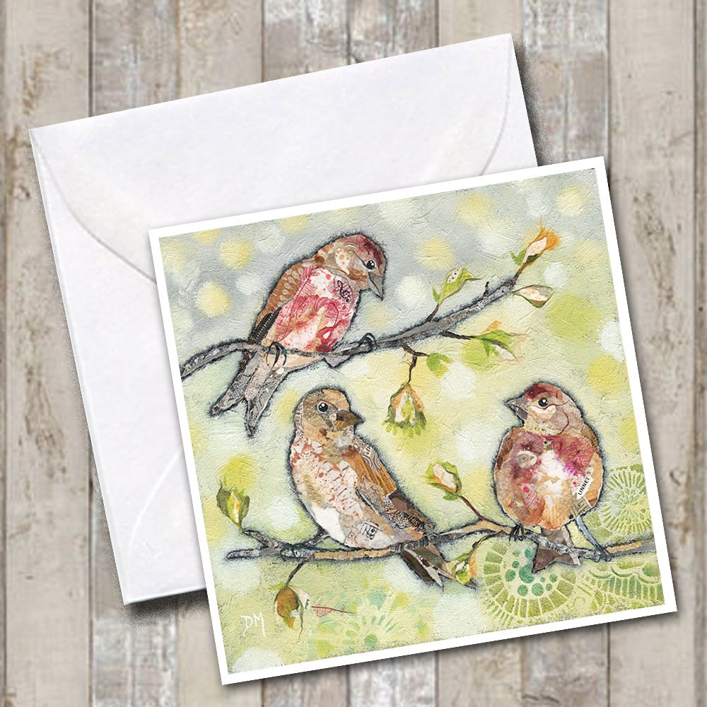 Linnet Bird Greetings Card