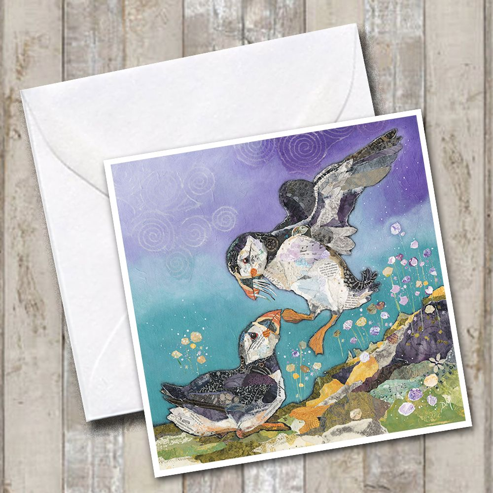 Puffin Love Art Greetings Card