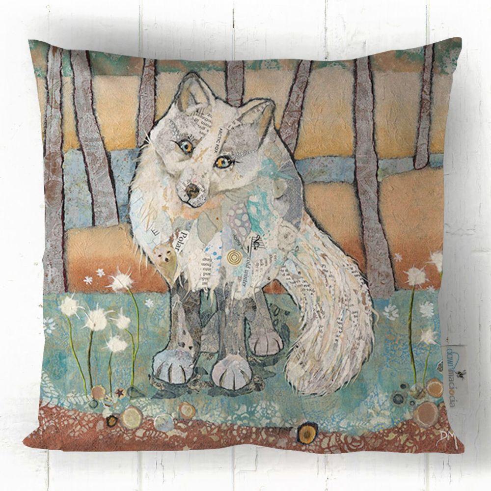 Arctic Fox Printed Cushion
