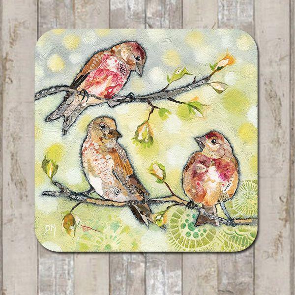 Linnet Bird Coaster Tablemat Placemat