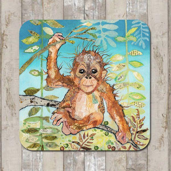 Baby Orangutan Coaster Tablemat Placemat
