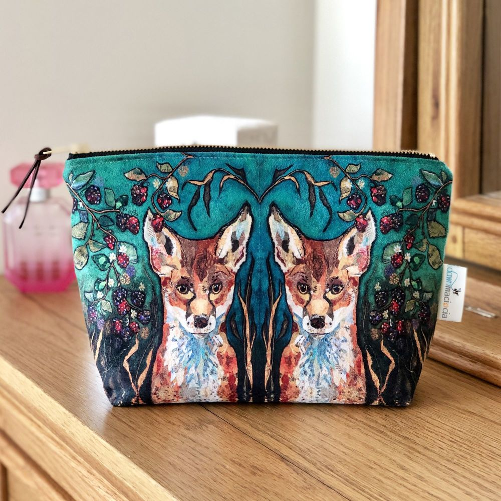 Fox in Brambles Make-up Cosmetic Bag