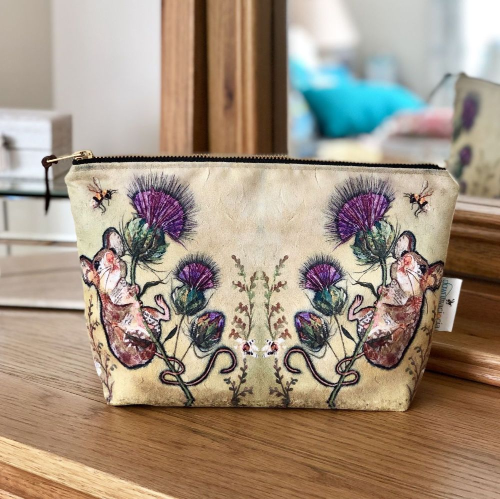 Mouse and Thistle Make-up CosmeticBag
