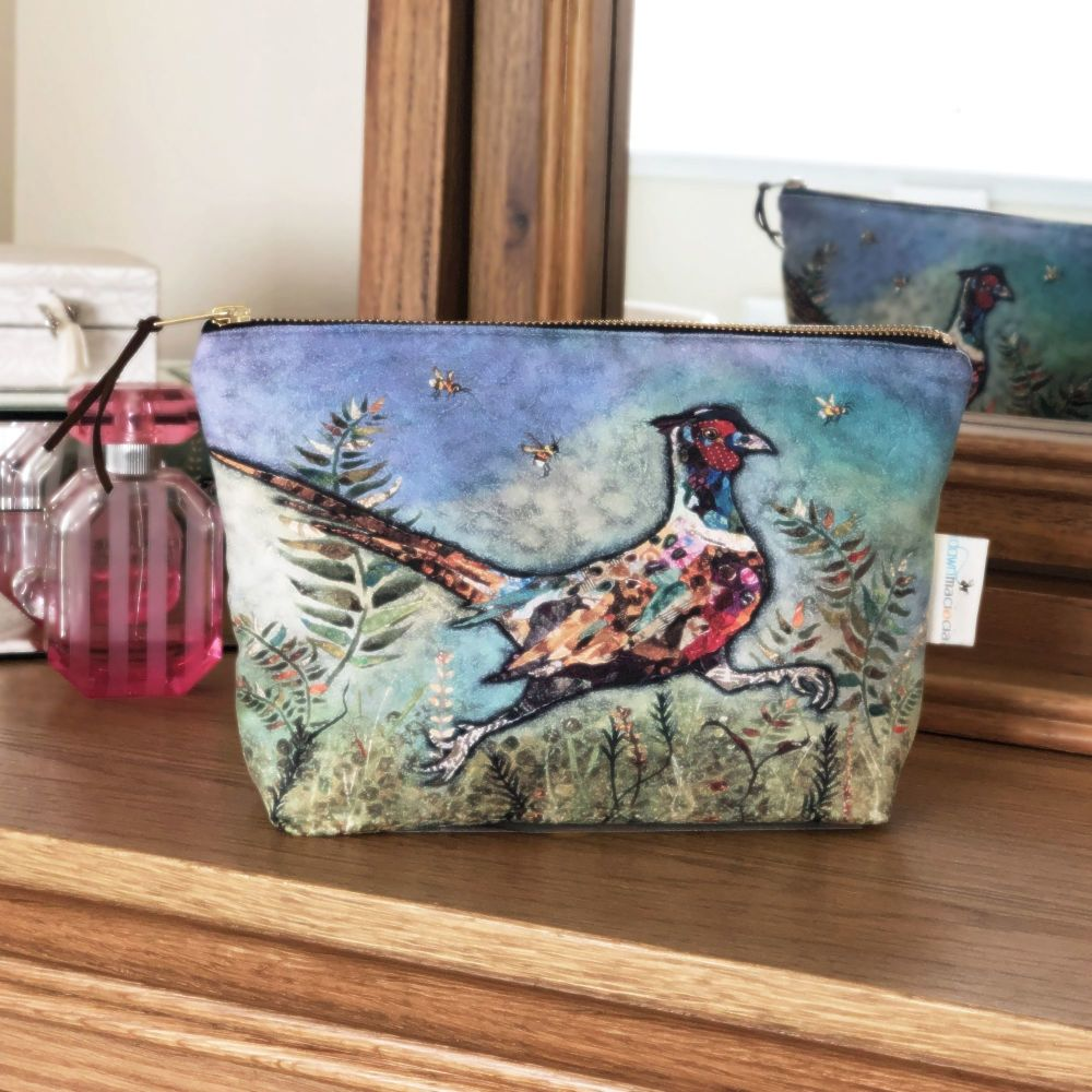 Running Pheasant Make-up Cosmetic Bag