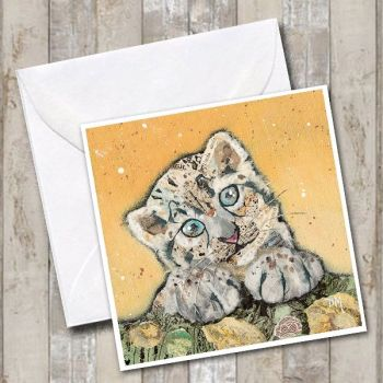 Snow Leopard Cub Card