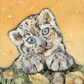 Snow Leopard Cub- Small/Med Print
