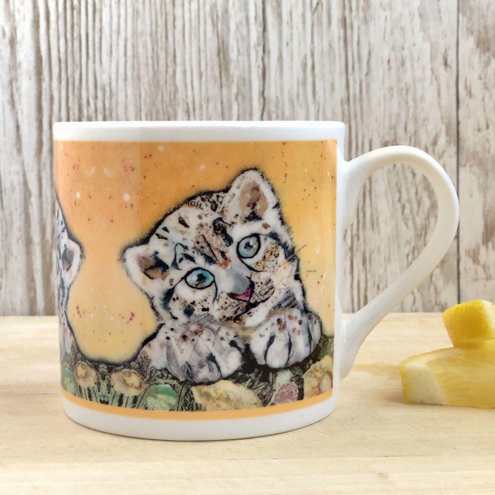 Snow Leopard Cub Mug - Fine Bone China