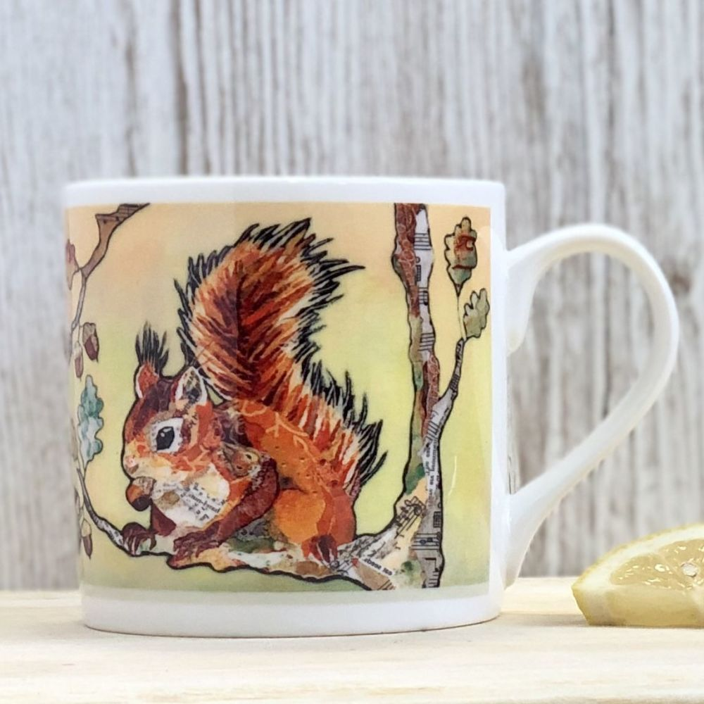 Red Squirrel and Nut Mug