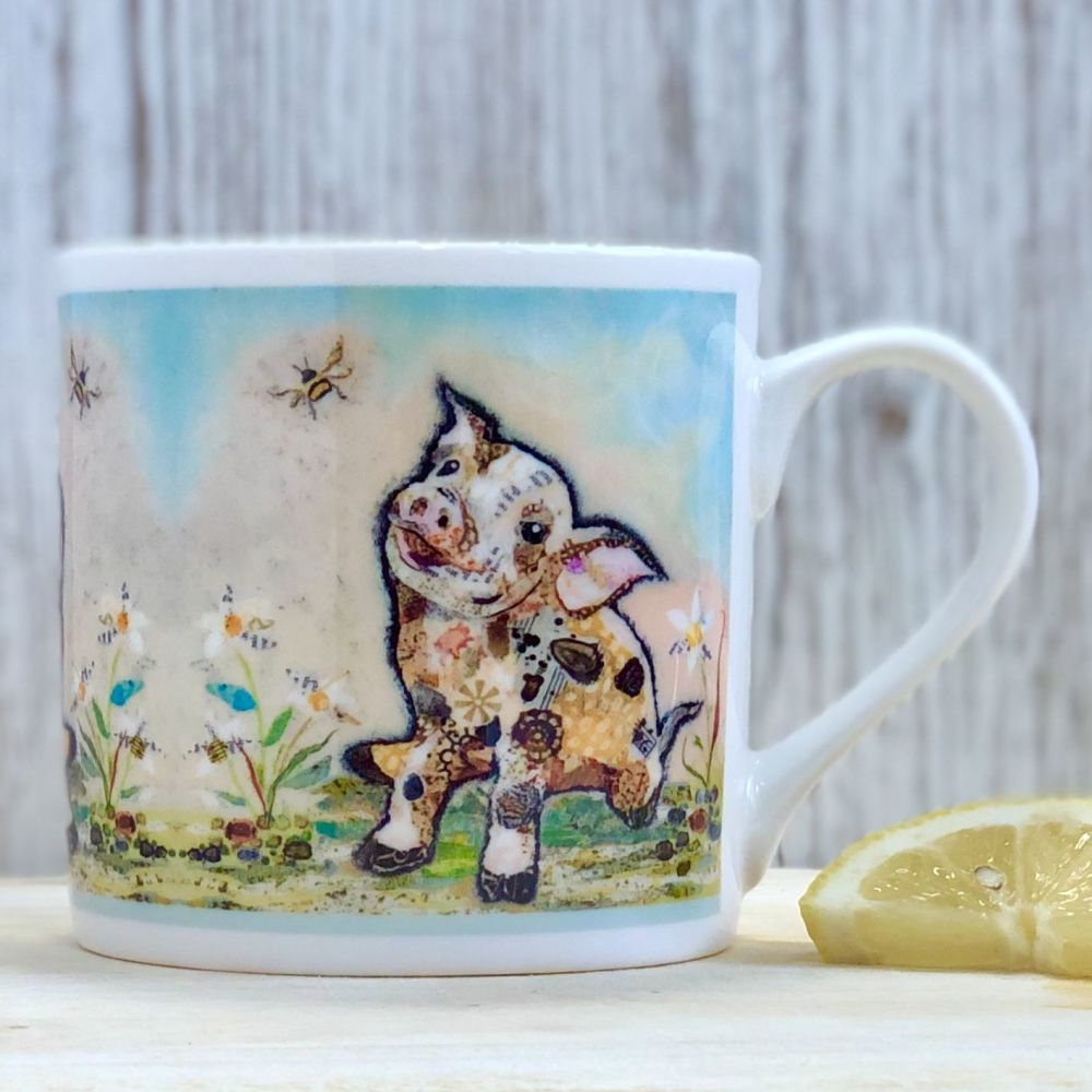 Pig and Bumble Bee Mug
