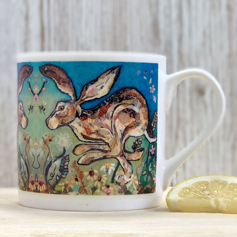 Running Hare Fine Bone China Mug