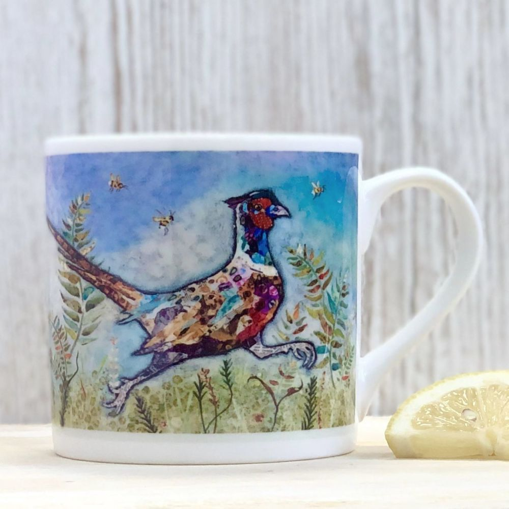Running Pheasant Mug Fine Bone China
