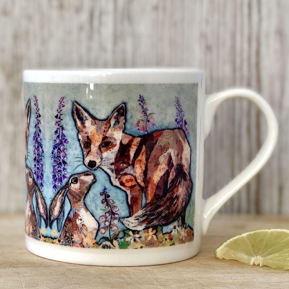 Unlikely Friends Fox & Hare Mug - Fine Bone China