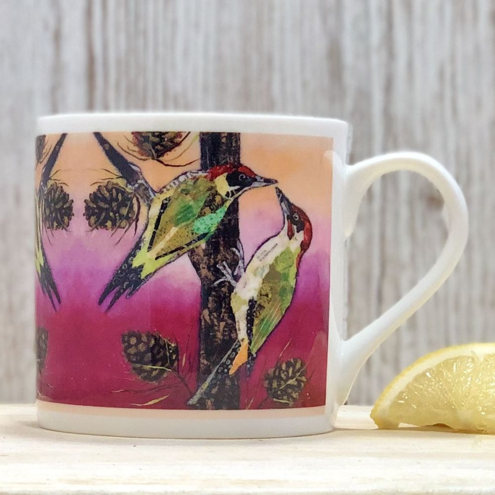 Woodpecker Fine Bone China Mug